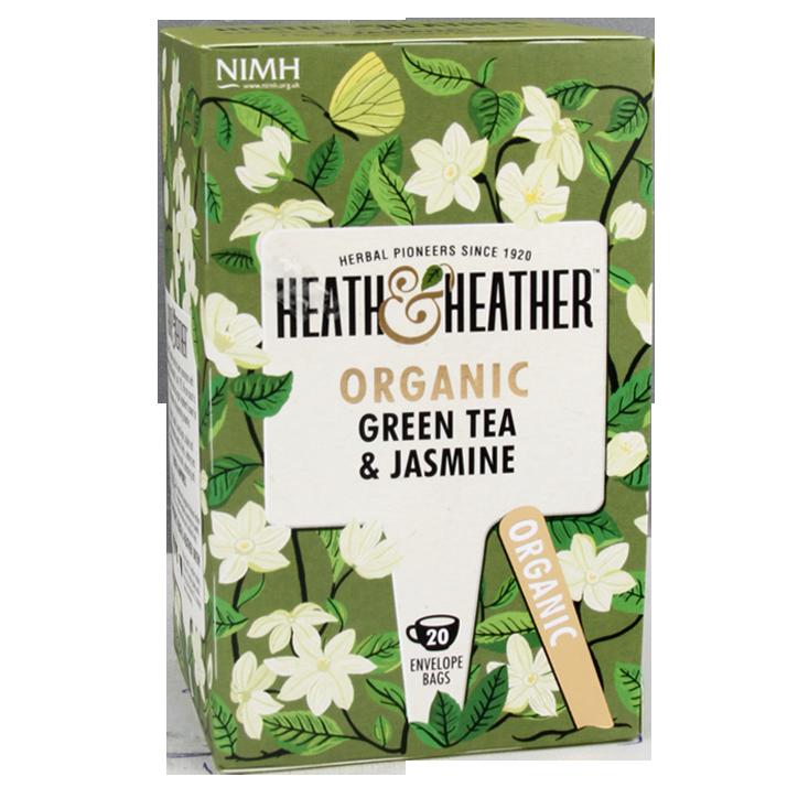 Heath & Heather Green Tea & Jasmine Bio (20 Theezakjes)