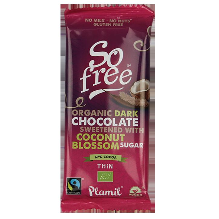 Plamil So Free Pure Chocoladereep Kokosbloesemsuiker Bio