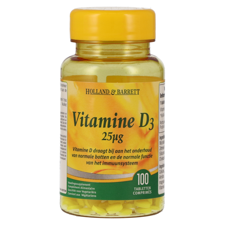 Holland & Barrett Vitamine D3, 25mcg (100 Tabletten)