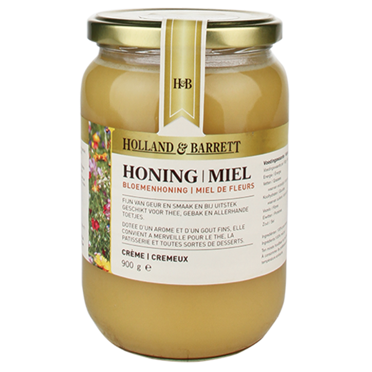 Holland & Barrett Bloemenhoning Crème 900gr