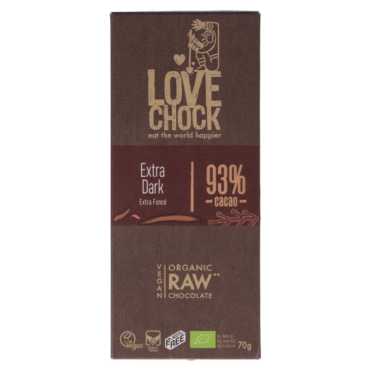 Lovechock Reep Raw Chocolate 93% Cacao Bio