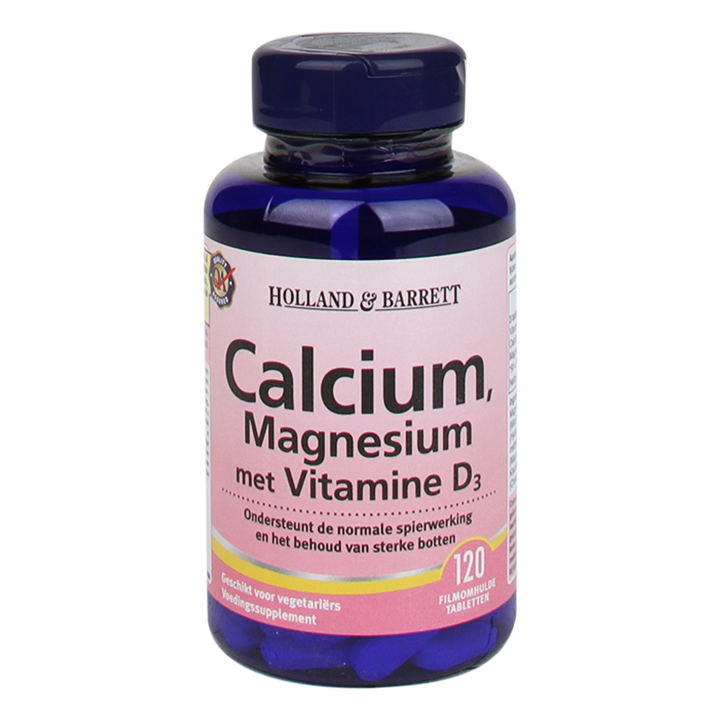 Holland & Barrett Calcium Magnesium Vitamine D3 (120 Tabletten)