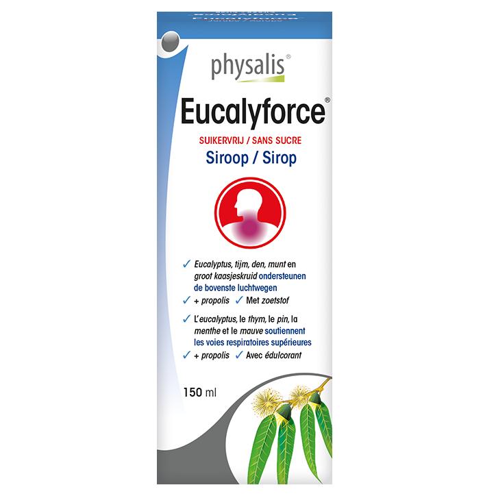 Physalis Eucalyforce Suikervrij Siroop Bio (150ml)