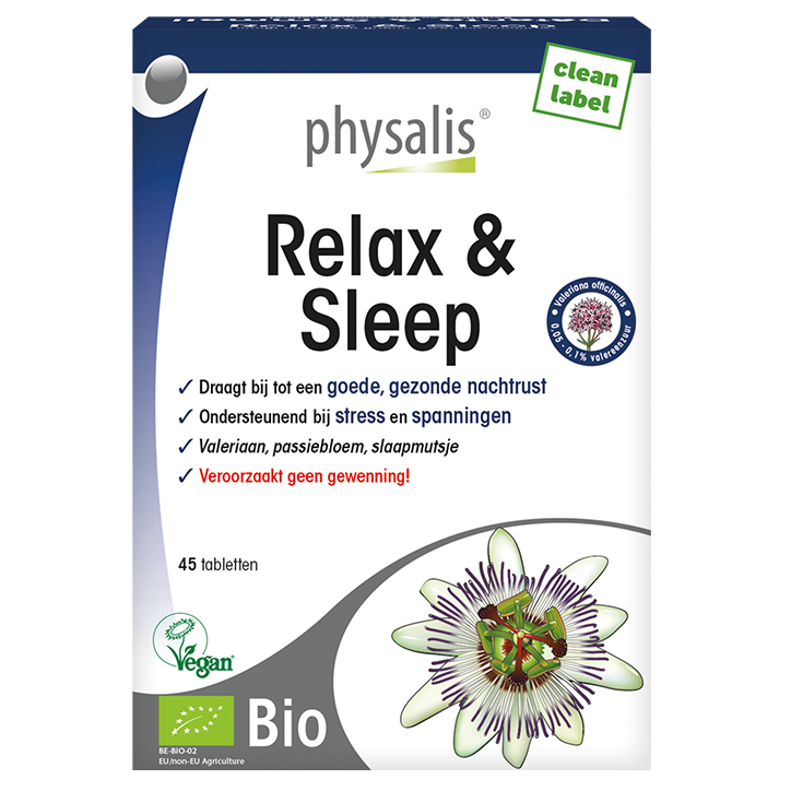 Physalis Relax & Sleep Bio (45 Tabletten)
