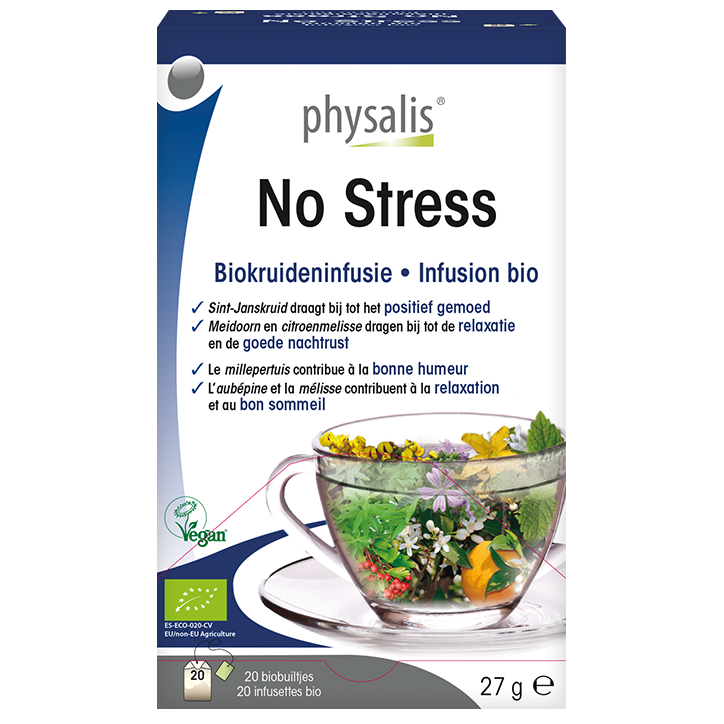 Physalis Kruideninfusie No Stress Bio (20 Theezakjes)