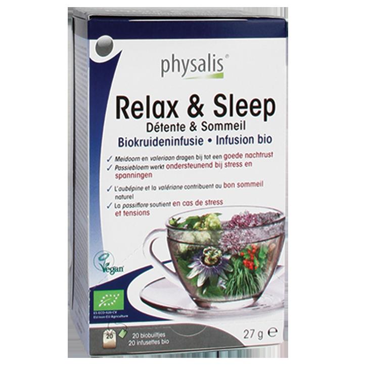 Physalis Kruideninfusie Relax & Sleep Bio (20 Theezakjes)