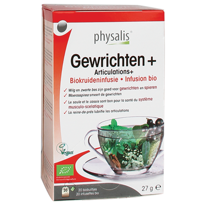 Physalis Kruideninfusie Gewrichten+ Bio (20 Theezakjes)