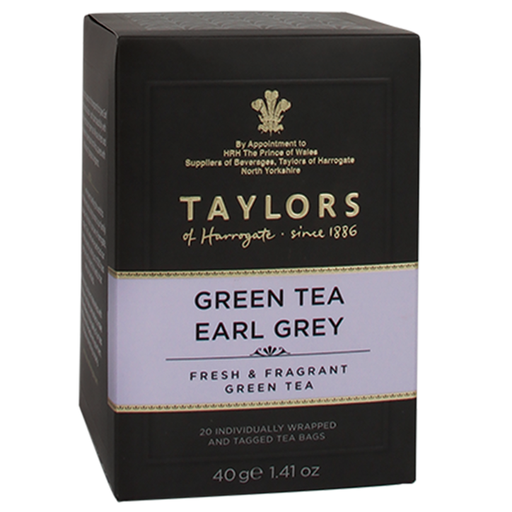 Taylors Of Harrogate Green Tea Earl Grey