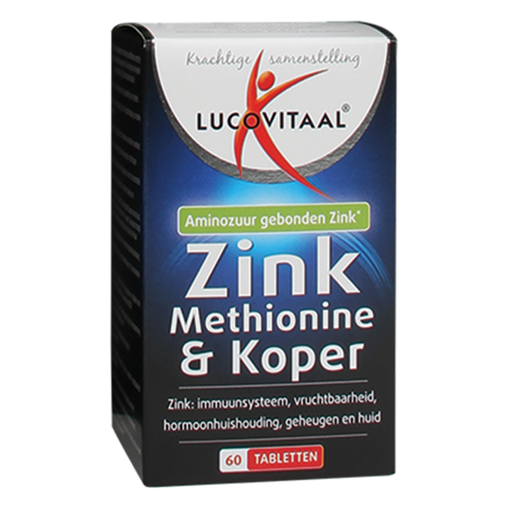 Lucovitaal Zink - Methionine & Koper (60 Tabletten)