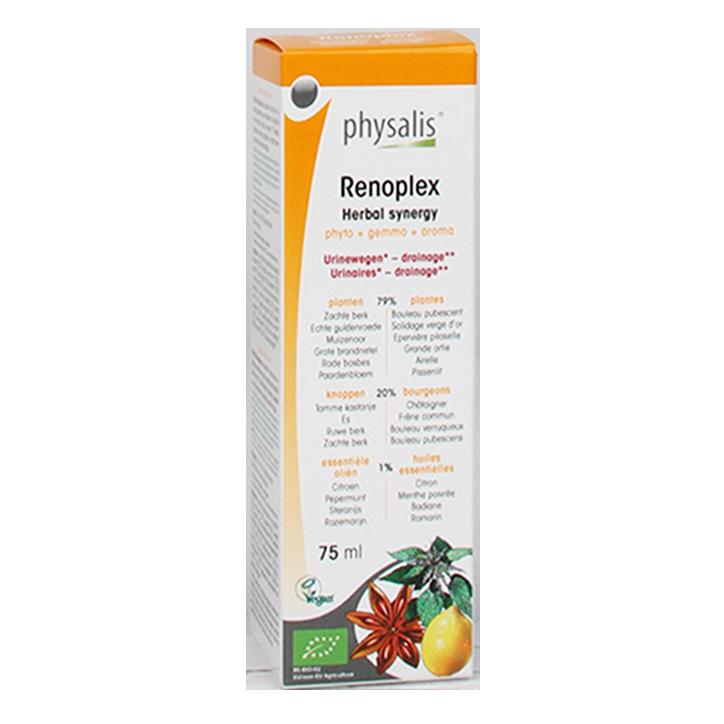 Physalis Renoplex Kruiden Synergie Druppels Bio (75ml)
