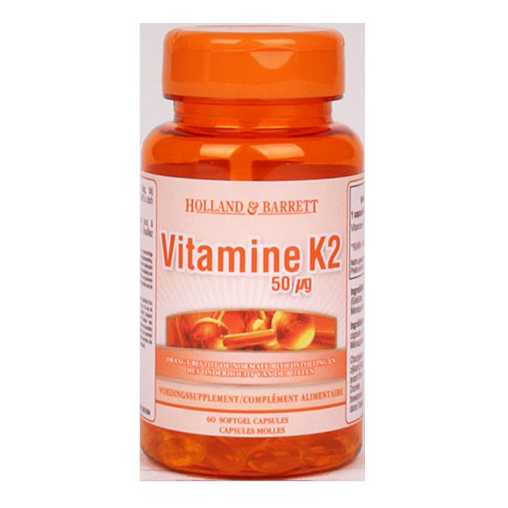 Holland & Barrett Vitamine K2 50mcg (60 capsules)