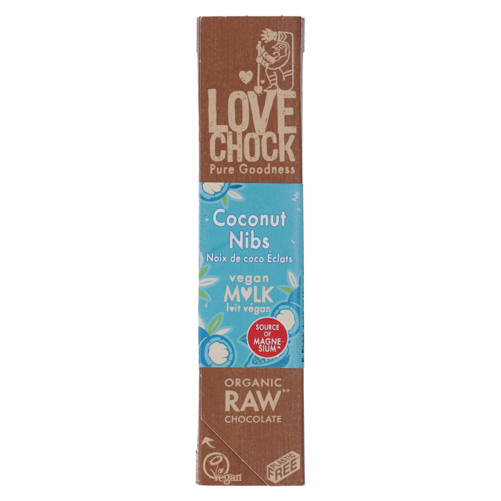 Lovechock Reep Raw Chocolate Creamy Coconut Nibs
