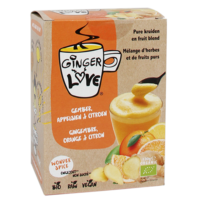 Ginger Love Hot Drink Wonder Spice Ongezoet Box (5 Sachets)
