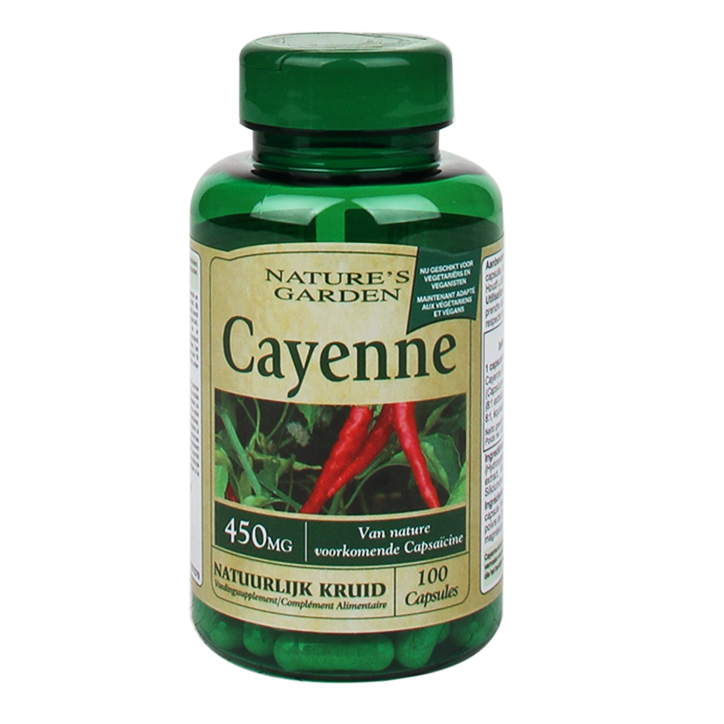Nature's Garden Cayenne, 450mg (100 Softgel Capsules)