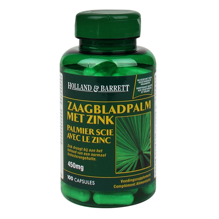 Holland & Barrett Zaagbladpalm, 450mg (100 Capsules)