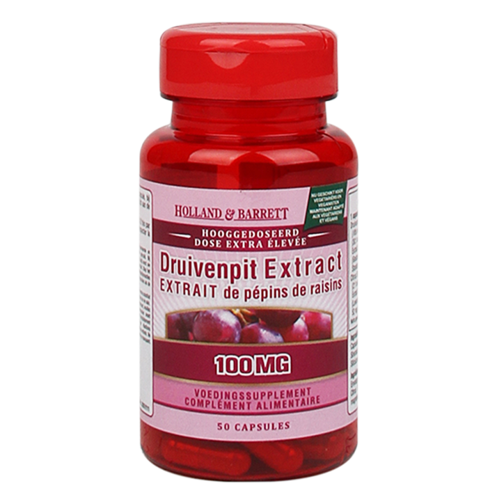 Holland & Barrett Druivenpit Extract, 100mg (50 Capsules)