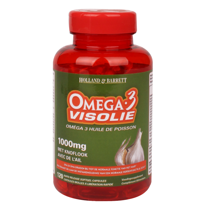Holland & Barrett Omega 3 Visolie Met Knoflook