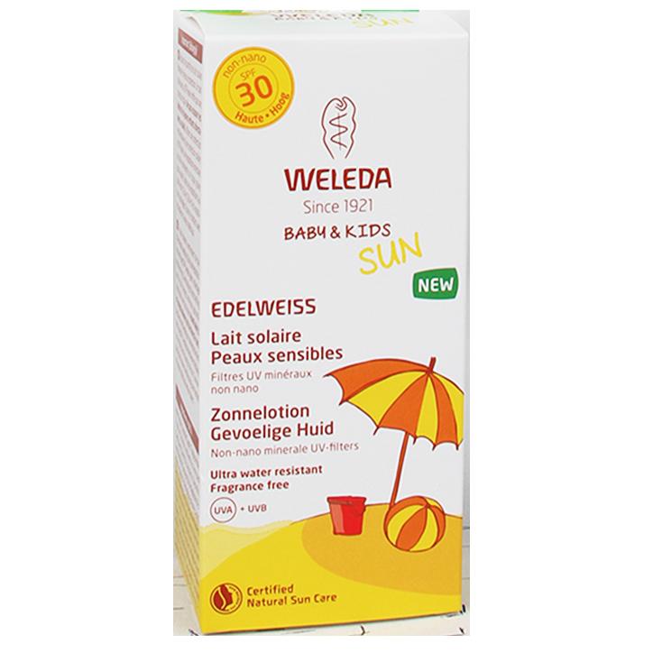 Weleda Edelweiss Zonnelotion Gevoelige Huid + Baby & Kids SPF30 (150ml)