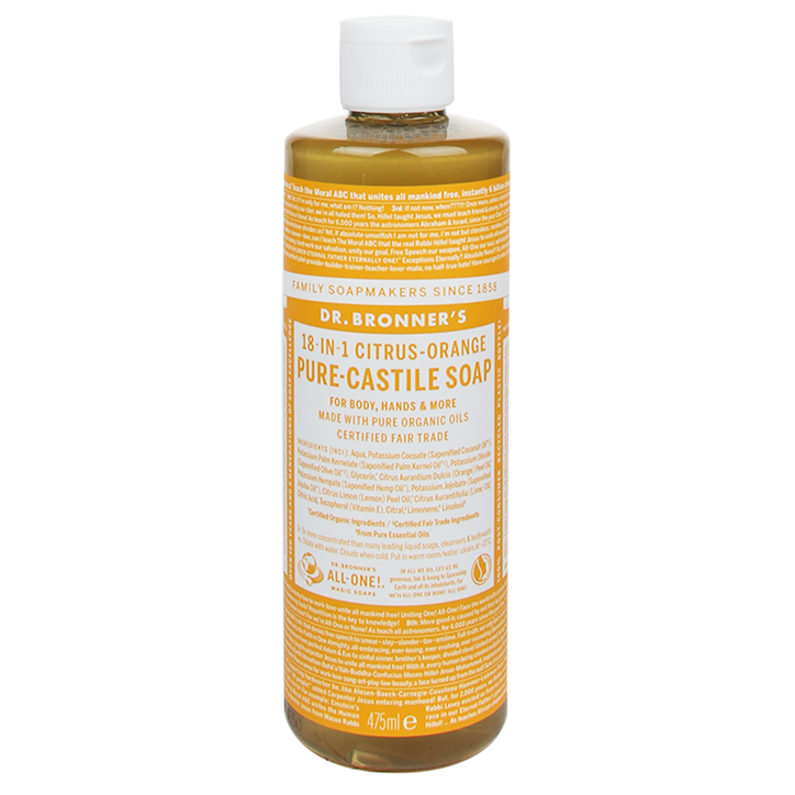 Dr Bronner's Citrus-Orange Vloeibare Zeep 475ml