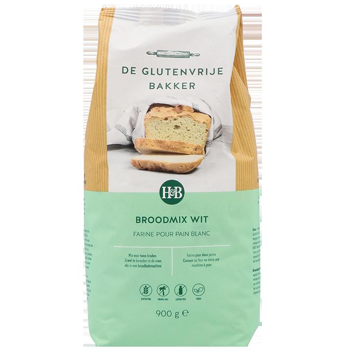 De Glutenvrije Bakker Broodmix Wit (900gr)