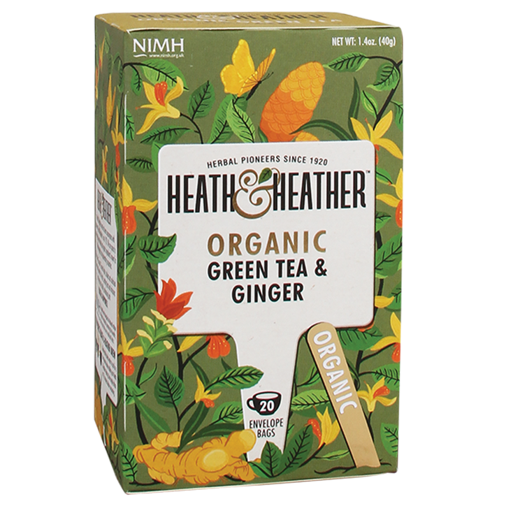 Heath & Heather Green Tea Ginger Bio (20 Theezakjes)