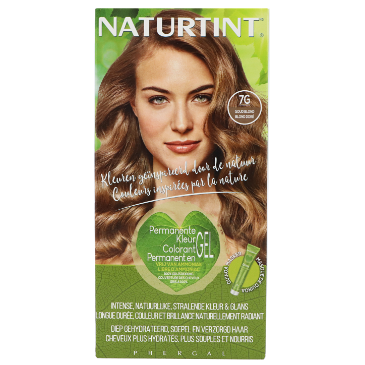 Naturtint Permanente Haarkleuring 7G Goud Blond