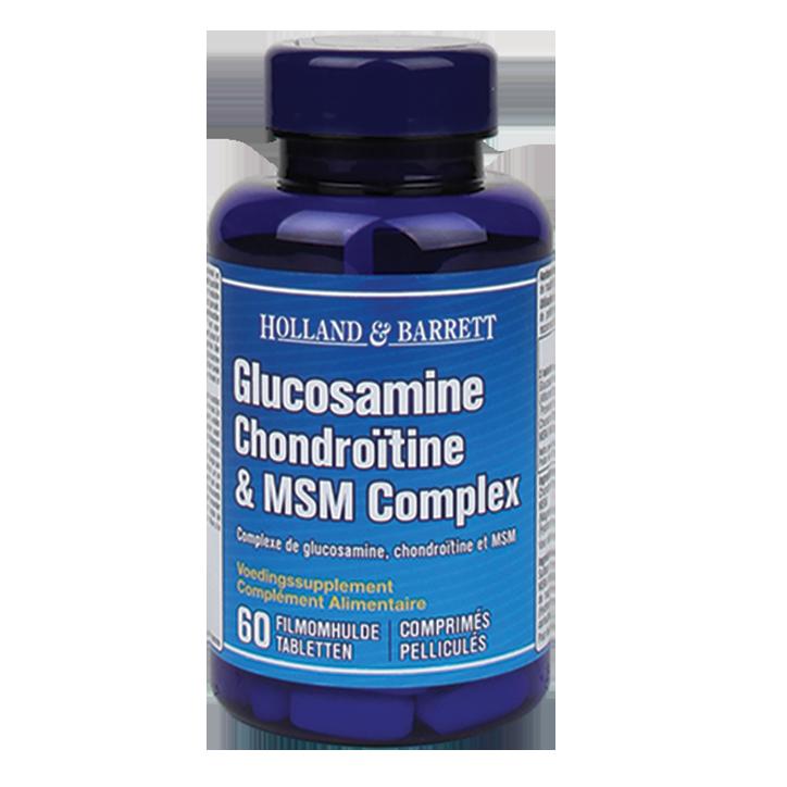 Holland & Barrett Glucosamine Chondroïtine MSM (60 Tabletten)