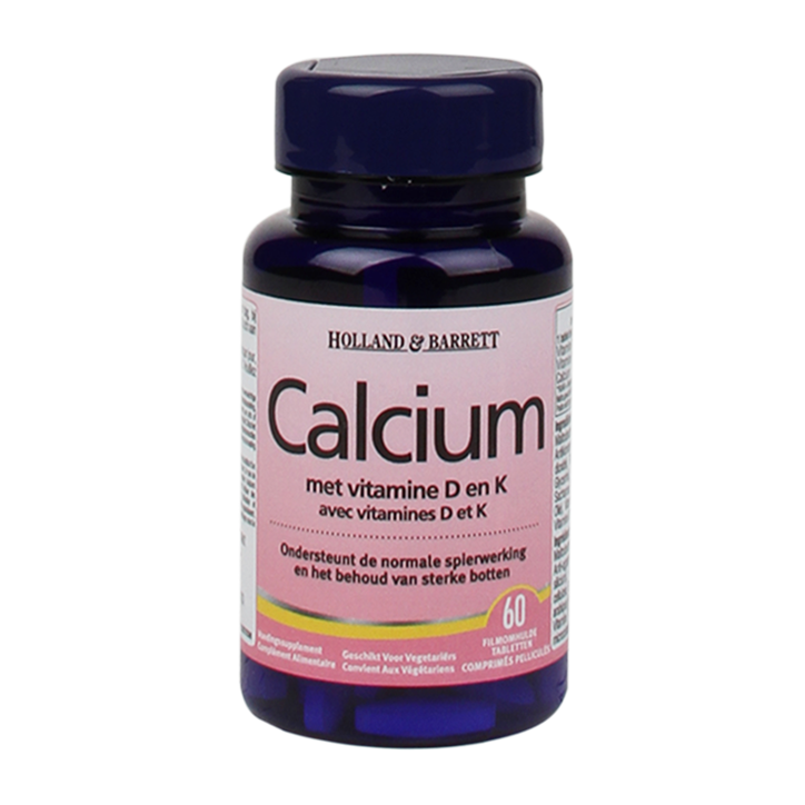 Holland & Barrett Calcium + Vitamine D & K (60 Tabletten)
