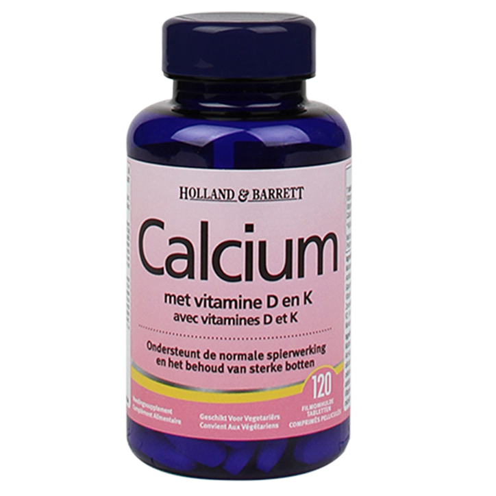 Holland & Barrett Calcium + Vitamine D & K (120 Tabletten)