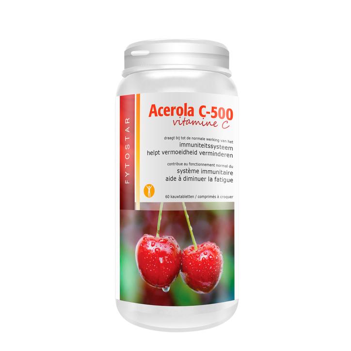 Fytostar Acerola Vitamine C, 500mg (60 Tabletten)