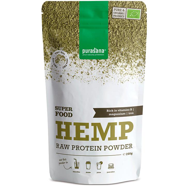 Purasana Hemp Protein Raw Powder (200gr)