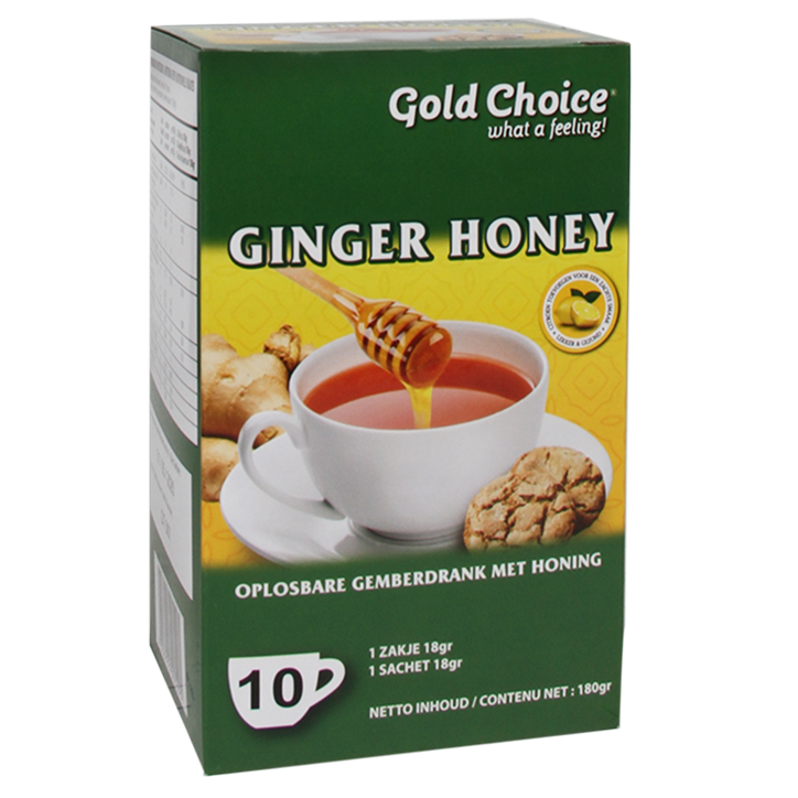 Gold Choice Ginger Honey Drink (10 Theezakjes)