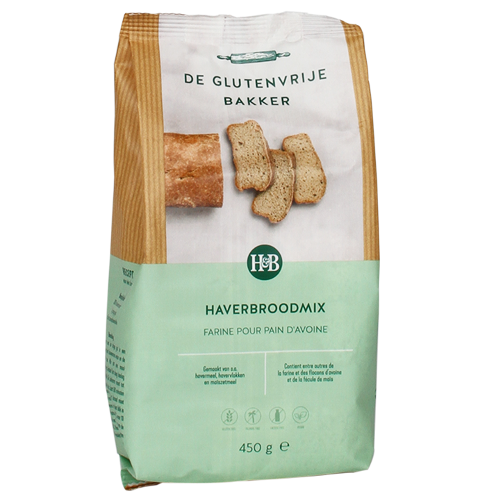 De Glutenvrije Bakker Haverbroodmix (450gr)