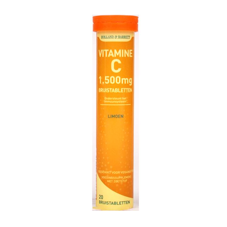Holland & Barrett Vitamine C Bruistabletten Limoen (20 Tabletten)