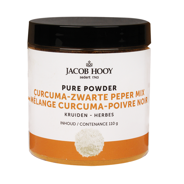 Jacob Hooy Pure Poeder Curcuma Zwarte Peper (110gr)