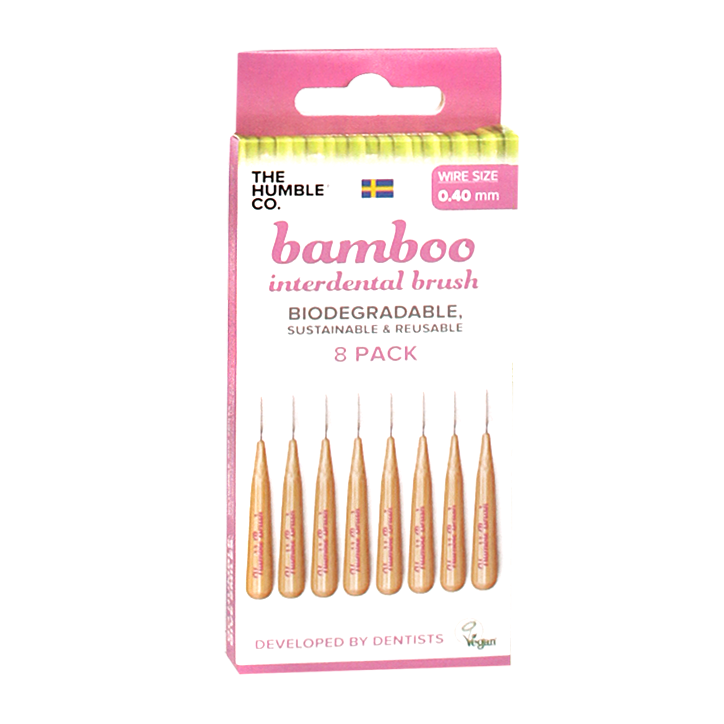 The Humble Co Interdental Bamboo Brush Ragertjes (0,4mm) Roze