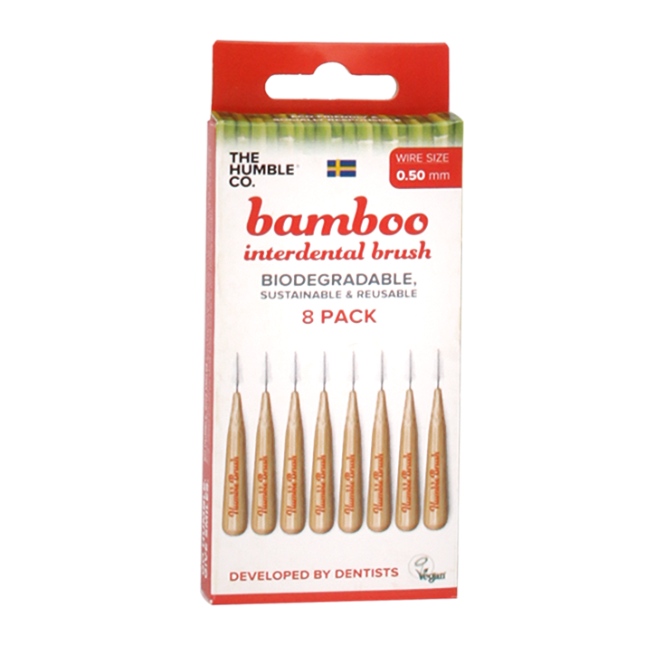 The Humble Co Interdental Bamboo Brush Ragertjes (0,5mm) Rood