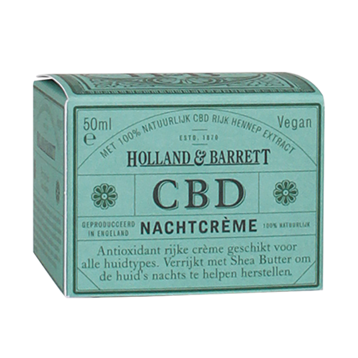 Holland & Barrett CBD Nachtcrème, 50ml