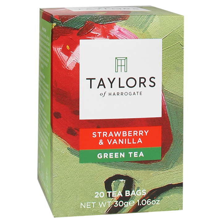 Taylors Of Harrogate Strawberry & Vanilla Green Tea (20 Theezakjes)