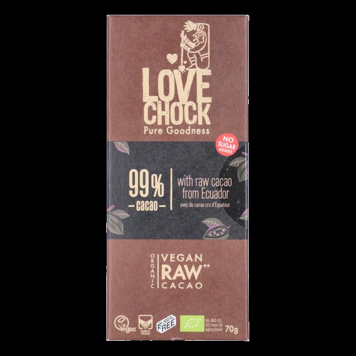 Lovechock Extreme Dark 99% Cacao Bio (70gr)