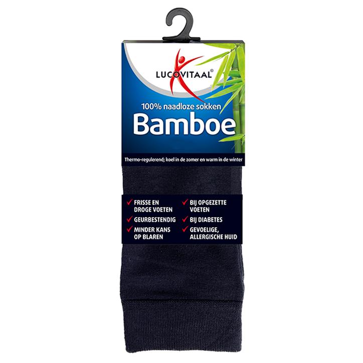 Lucovitaal Bamboe Sokken Blauw 43-46