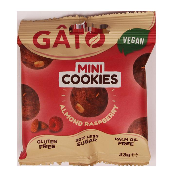 Gato Mini Cookies Almond Raspberry (33gr)