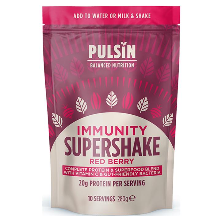 Pulsin Supershake Immunity Blend Rode Bessen (280gr)