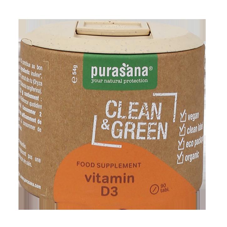 Purasana Clean & Green Vitamine D3 Bio (90 Capsules)