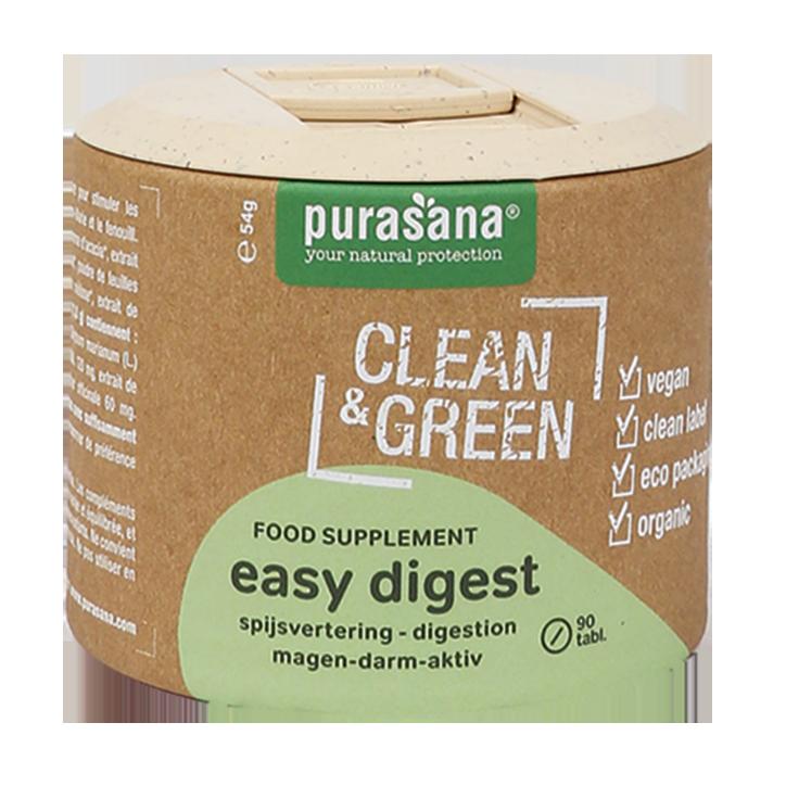 Purasana Clean & Green Easy Digest (90 Capsules)