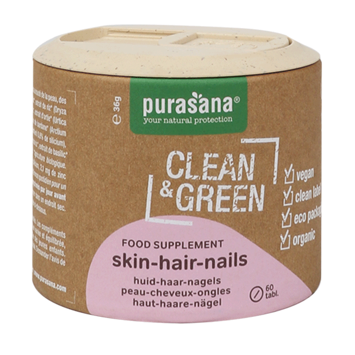 Purasana Clean & Green Skin Hair Nails Bio (60 Tabletten)