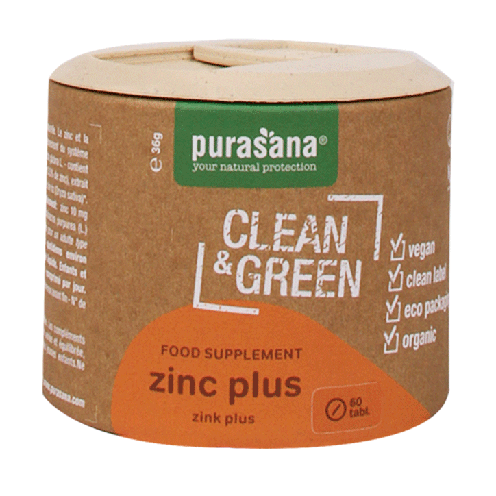 Purasana Clean & Green Zink Plus (60 Tabletten)