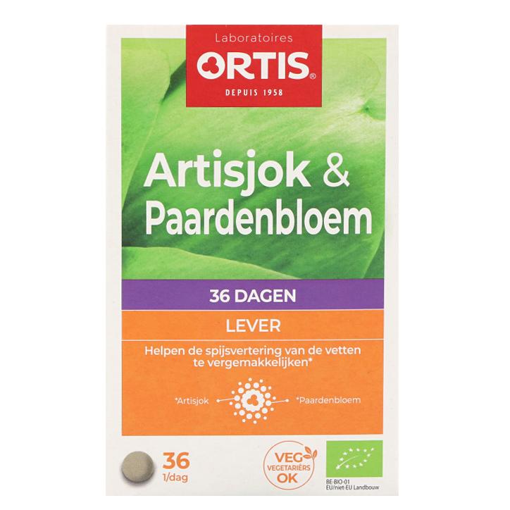 Ortis Artisjok & Paardenbloem Bio (36 Tabletten)