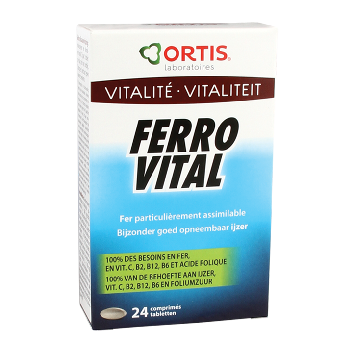 Ortis Ferro Vital Vitaliteit (24 Tabletten)