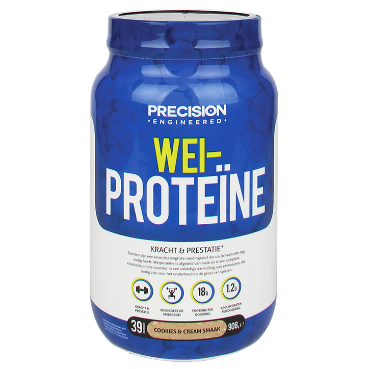 Precision Engineered Super Whey Proteïn Cookies And Cream 908gr